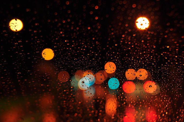EyeEm Selects Minimalist Close-up Red Simple Taking Photos Bokeh Water Droplet Windscreen Night Traffic Traffic Lights Miri, Malaysia Morning Dawn Of A New Day