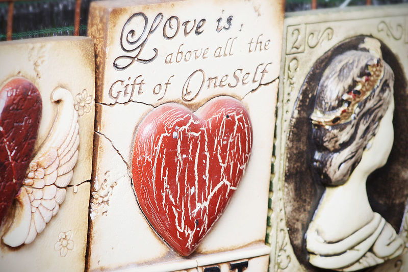 Art Hearts Love Love Quote Relationship Sculpture Text On Wall Wall Art