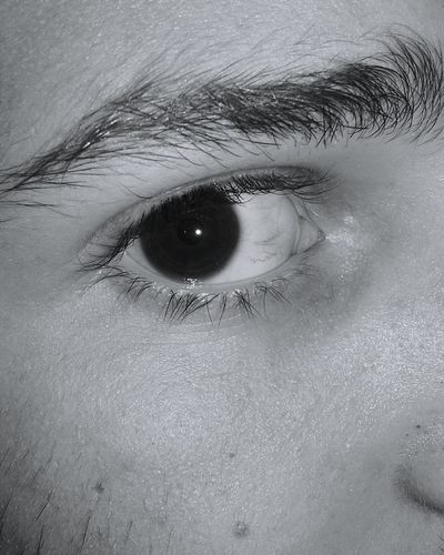 Looking At Camera Human Eye Full Frame Close-up Portrait Backgrounds Indoors  Extreme Close-up Eyelash Eyesight Eyeball Extreme Close Up Human Skin Person Captured The Moment Black And White Photography Looking At Camera Black&white Focused Blackandwhite Boybnw
