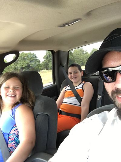 Headed to the water park!