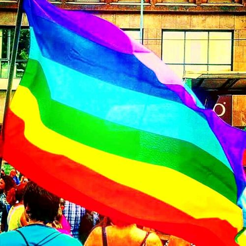 Milano Milanopride Pride2015 Stophomophobia Nohomophobia Antihomophobes Rainbow Flag Colorsplash Colour Portrait