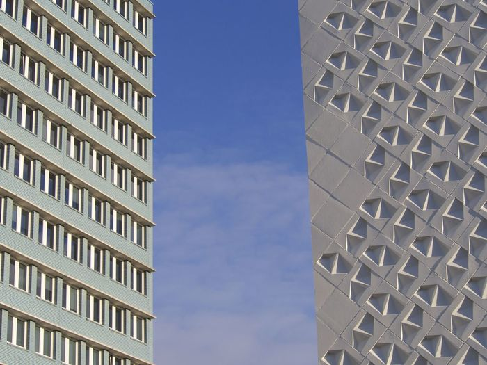 Architecture Architecture_collection Architecturelovers Berlin Berliner Ansichten Blue Sky Building Exterior Built Structure City Façade Low Angle View Minimal Minimalism Minimalist Architecture Minimalmood Minimalobsession Modern No People Urban Geometry Urban Photography