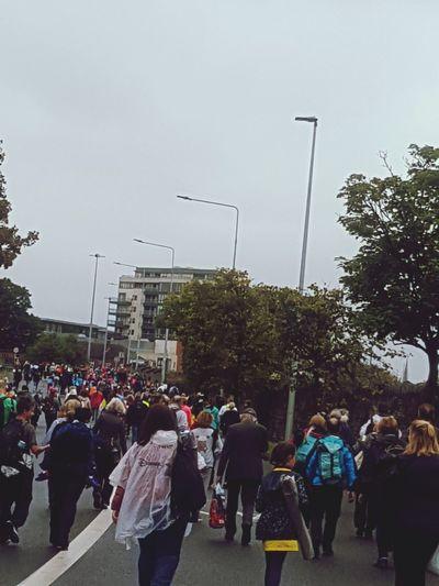 crowd taking
