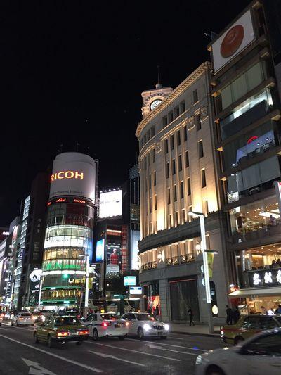 銀座 Ginza Tokyo Japan Nightphotography Night Cityscapes
