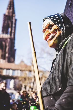 What a big witch Real People Outdoors Arts Culture And Entertainment Confetti Nice Day Strasbourg Carnival Crowds And Details Strasbourg♥ Carnival Event People Smiling Masked Fun Happy Streetphotography