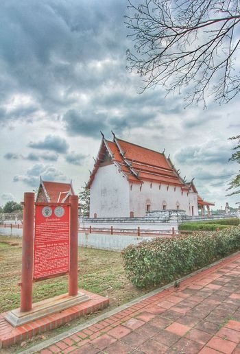 Old Buildings Faithful Religious Architecture Buddhist Temple Temple Cultural Heritage Red History Sky Architecture Building Exterior Cloud - Sky Built Structure Museum Aged Destinations Settlement