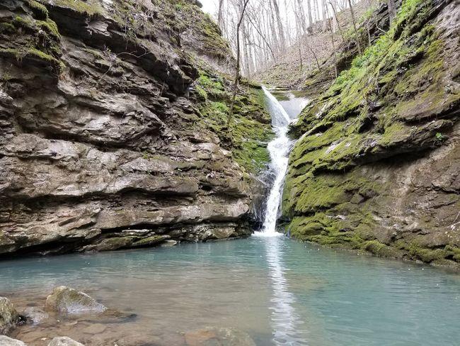 Tree Water Waterfall Sky Flowing Water Stream - Flowing Water Moss Stream Flowing