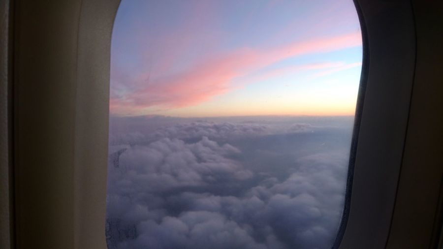Above the clouds. Earth Planet Earth Above The Clouds Clouds Sunset Clouds And Sky From An Airplane Window Airplane Window Cloudy Colors Nature Aviation Sunset Aerial View Sky Close-up Cloud - Sky