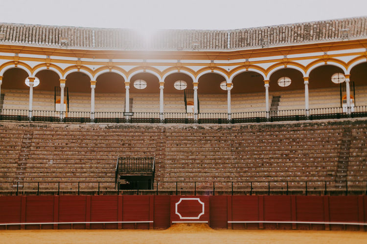 Architecture Built Structure Building Exterior Brick Wall Travel Destinations Nature Architectural Column Bullfighting SPAIN Bullring Sevilla History Brick Wall Low Angle View Capture Tomorrow