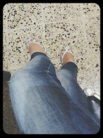 Skinny Jeans Silver Shoes