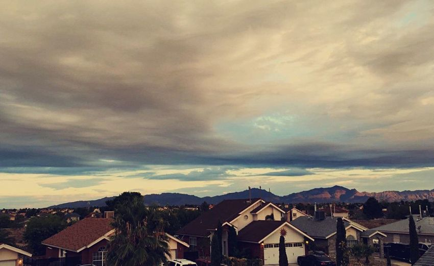 Home'View // Home View Sunrise Simplicity Mountains Roof Simple Photography Nature Clouds Sky Tranquility Peace And Quiet Neighborhood Color