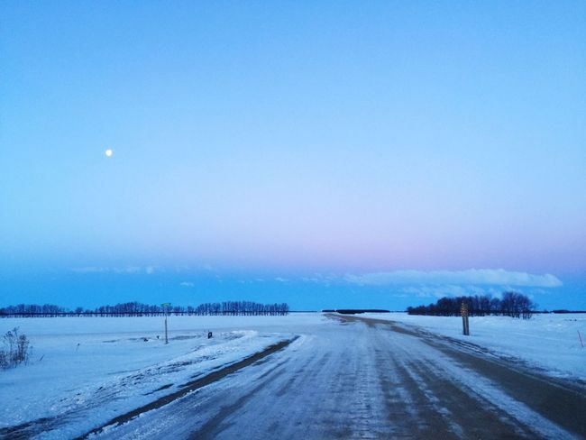 Cold Temperature Blue Snow Nature Winter Tranquility Scenics No People Beauty In Nature Landscape Tranquil Scene Tree Outdoors Moon Sky Day