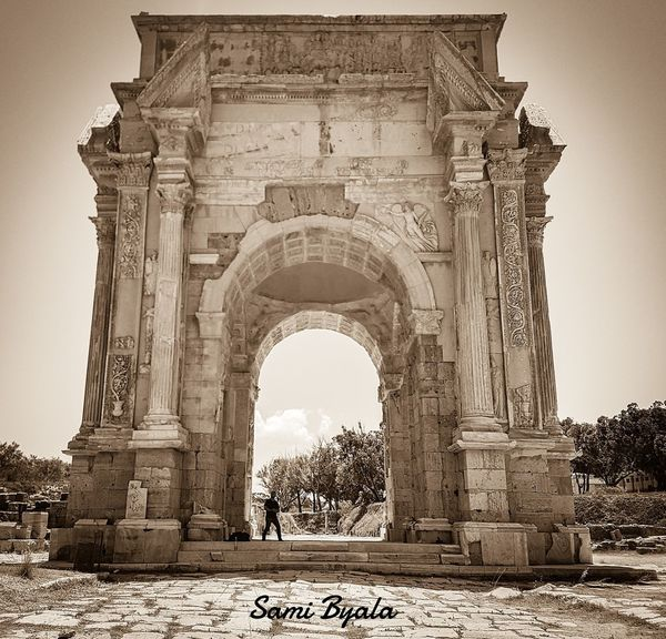 Leptis Magna Libya Arts Culture And Entertainment Old City History Architecture Outdoors City Sky Arch Triumphal Arch Monument The Past Built Structure Gate Travel Destinations Old Ruin Ancient Day People Adult One Man Only Adults Only Only Men