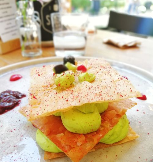 Delicious homemade sweet mille-feuille ready for you Dessert Delicious Sweet Sweet Food Mille-feuilles Dessert French Food Green Color Eating Eating Out Tasty Gourmet Gourmet Food Food Enjoying Life Fruits Enjoying A Meal Meal Dish Slice Of Cake Light Close-up Food And Drink Served Prepared Food Serving Size Plate Ready-to-eat Pancake Dish
