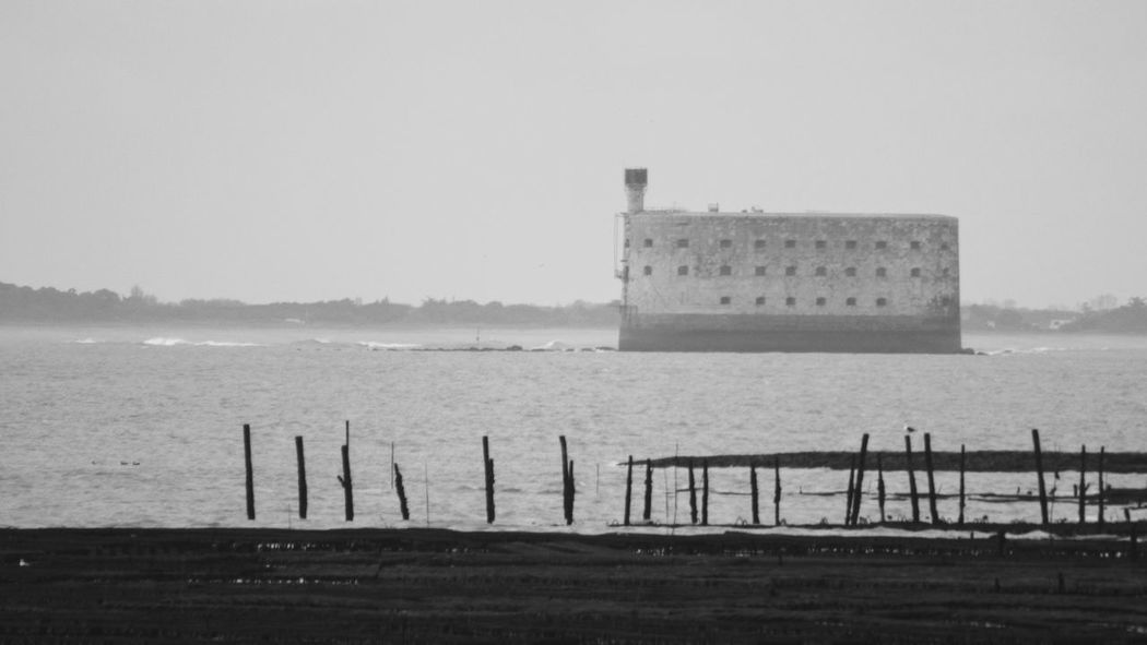 Fort Boyard Prison No People Outdoors Beach Sea Built Structure Littoral Black & White