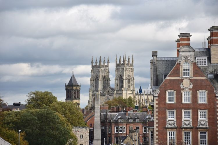 Lost In The Landscape Architecture Building Exterior Built Structure Cloud - Sky Sky Place Of Worship Religion Spirituality Day No People Outdoors History Tree Travel Destinations City York Minster  Historical Building Historic Old Buildings Bell Tower Cityscape Nature Nikon in York