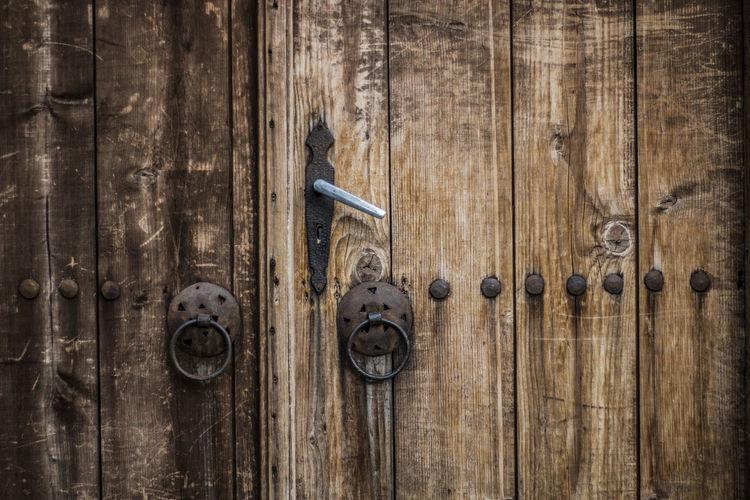 Full Frame Shot Of Wooden Closed Door