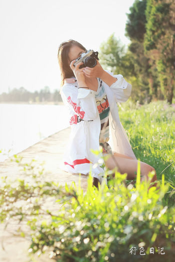 微信Virgolcj 365 Project Of Virgolcj Beauty Canon Ftb Dianchi Lake Girl Legs Nature One Person Outdoors People People Photography Portrait Sunshine Young Adult Young Women 昆明 海埂