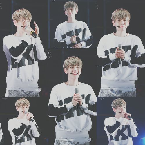 EXO Baekhyun Black And White Idol