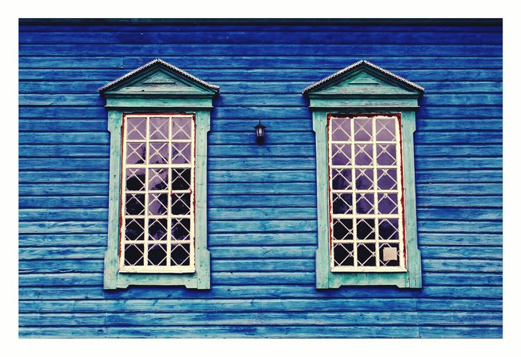 Arhitecture Hello World Ukraine Blue Window синій