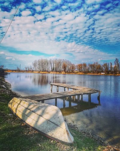 One sunny day Nature Nature_collection Nature Photography Naturephotography Naturelovers #sky #clouds  Water Reflection Sky Cloud - Sky