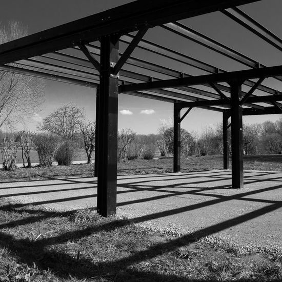 Structure Architecture Blackandwhite Built Structure Lac De Malsaucy Light And Shadow Metal Shadow Structure First Eyeem Photo