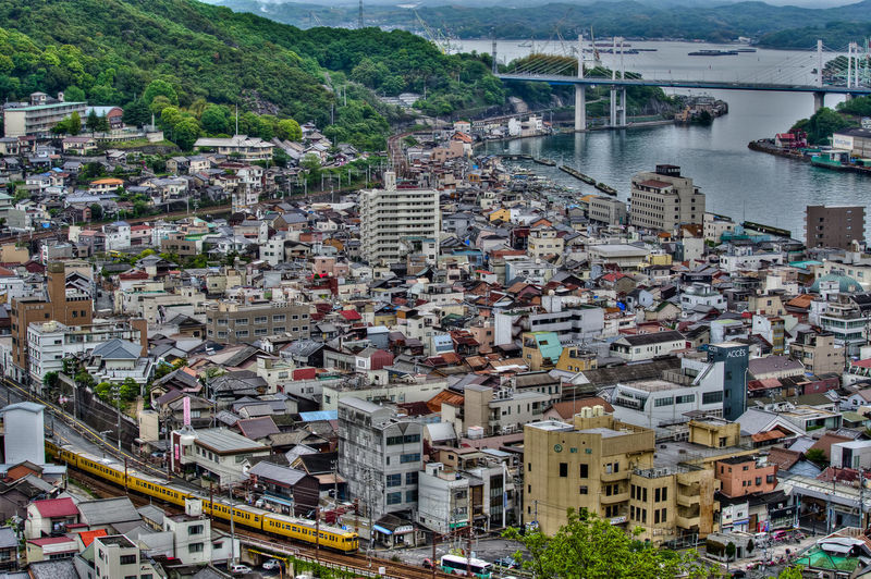 Architecture Building Exterior Built Structure City High Angle View Water Residential District Transportation Day Building Crowd Crowded Nature Mode Of Transportation Community River Cityscape Town Outdoors TOWNSCAPE Sailboat Onomichi Onomichi, Japan Hirosima Japan Japan Photography Train Railway Sky Setouchi Sea HDR Pentax Bridge City Cityscape