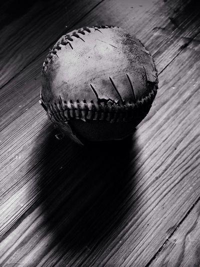 """Let's play ball"" AMPt_community Blackandwhite Monochrome Baseball"