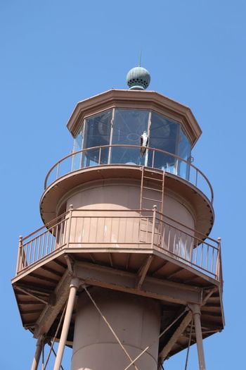 Sanibel Island Lighthouse Lifestyles Light House And Blue Sky Sky Beach Florida Tranquility Outdoors No People Day Old Vintage Sanibel Beach Bird Hawk Hawk - Bird