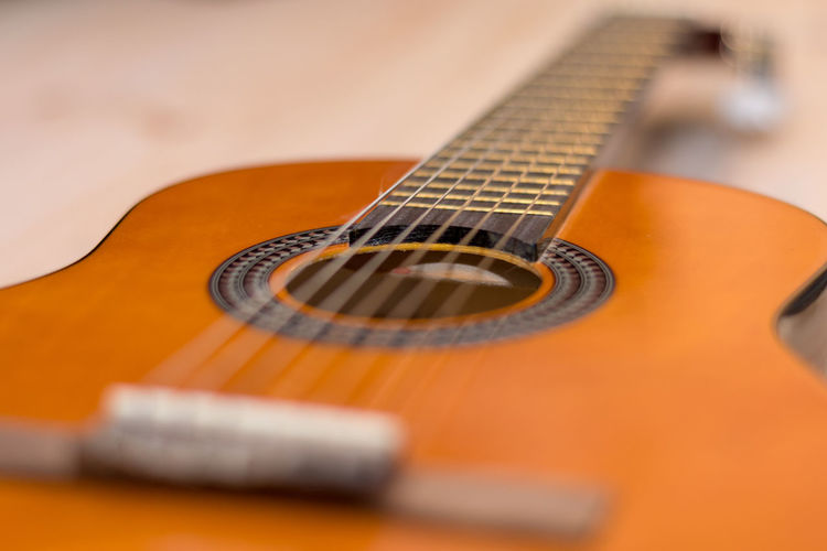 Acoustic Guitar Arts Culture And Entertainment Classical Guitar Close-up Day Electric Guitar Fretboard Guitar Indoors  Music Musical Equipment Musical Instrument Musical Instrument String No People Selective Focus Still Life String Instrument Woodwind Instrument