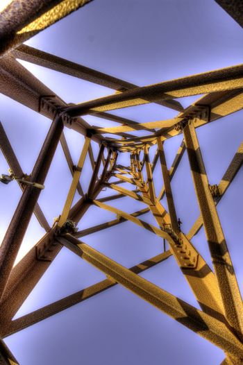 Alloy Architecture Blue Built Structure Clear Sky Close-up Communication Connection Day Directly Below Emotion Girder Low Angle View Metal Nature No People Outdoors Sky Sunlight Sunny Technology Tower EyeEmNewHere