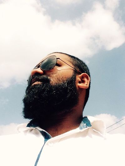 One Person Sky Cloud - Sky Lifestyles Men Nature Happiness Hello World That's Me Handsome Awesome_shots Enjoying Life EyeEm Best Shots - Nature Taking Photos Beard Sunglasses