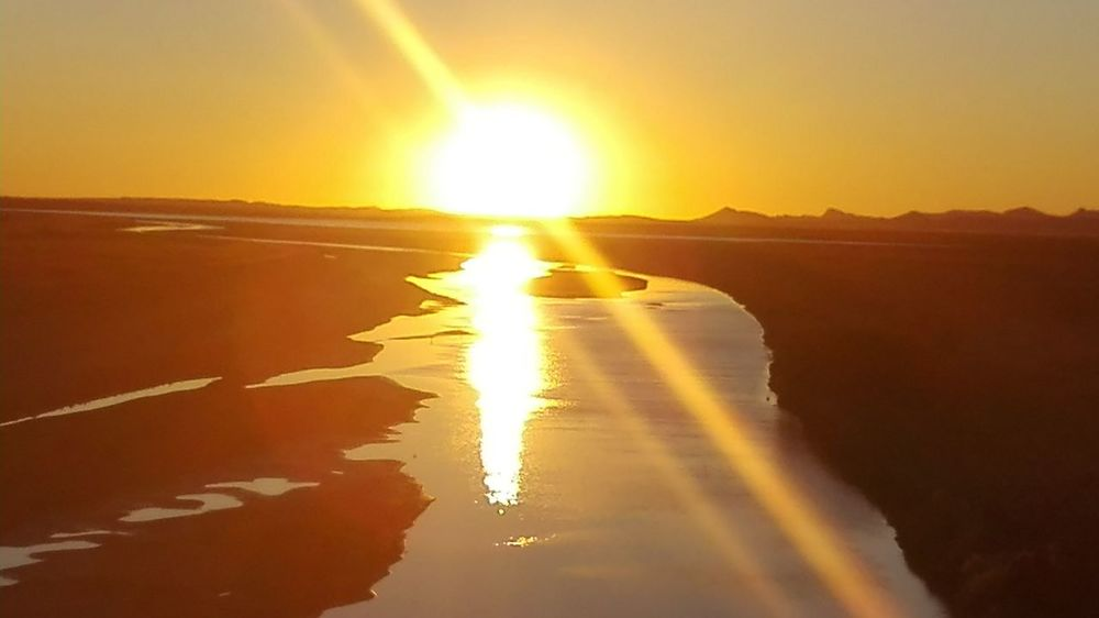 african sunset bethulie Sunset Tranquil Scene Tranquility Beauty In Nature Water Sun Tourism Landscape Majestic Nature Free State South Africa Dam