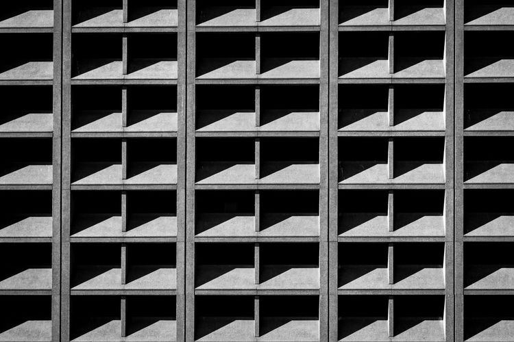 Backgrounds Full Frame Pattern Architecture Built Structure No People Repetition Day Building Exterior Design Building In A Row Close-up Shape Abundance Side By Side Industry Wall - Building Feature Construction Industry Outdoors Concrete Steel Copy Space Blackandwhite Light And Shadow The Minimalist - 2019 EyeEm Awards