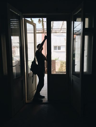 Window Indoors  Full Length One Person Real People Silhouette Home Interior Day Looking Through Window Standing Lifestyles Adult Adults Only People The Photojournalist - 2017 EyeEm Awards