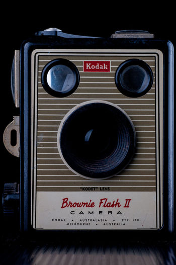 Box Camera Brownie Kodak Camera Arts Culture And Entertainment Brownie Circle Close-up Communication Control Electrical Equipment Equipment Flash Geometric Shape Indoors  Information No People Number Push Button Radio Retro Styled Shape Sign Speaker Technology Text Vintage Camera Western Script