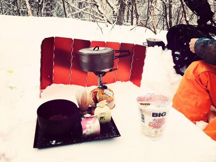 山頂でお茶をたてる…笑 Snow Mountain Snowboard Japanesetea Relaxing