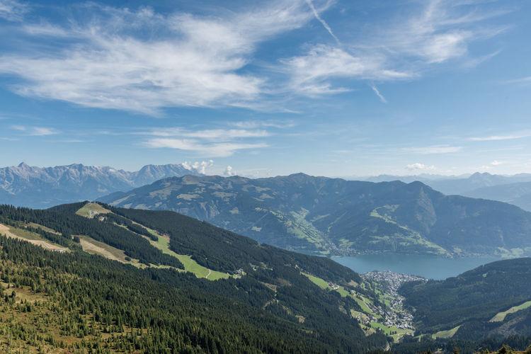 Berge Himmel Landschaft Pinzgau Salzburger Land Schmittenhöhe Wolken Steinernes Meer Wandern Zell Am See Österreich
