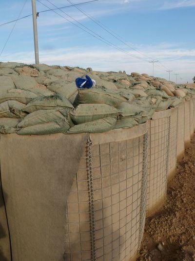 Random stuffed animal Iraq War Barricade