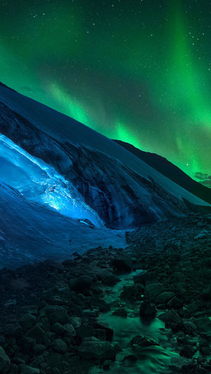 Astronomy Space Water Galaxy Star - Space Cold Temperature Snow Mountain Sea Beauty Iceberg - Ice Formation Space And Astronomy Constellation Star Field Star Trail Milky Way Tide Waterfall Rushing Space Exploration