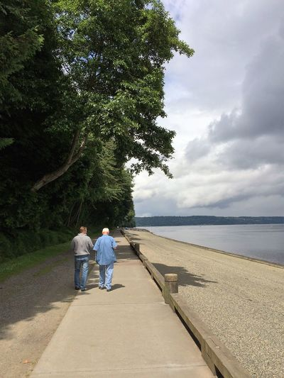 Father's Day Bonding Father's Day Outdoors Real People Rear View Tranquil Scene Two People Walking