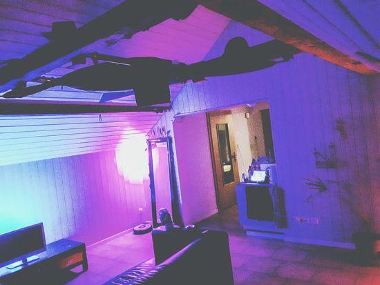 Great Lighting Conditions Enjoying Marijuana PhilipsHue Livingroom