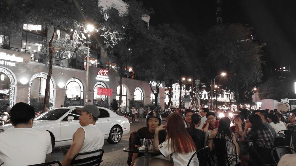 Street Night Street Night View Streetphotography Night Lights Night Sky Coffee Time Saigon Night