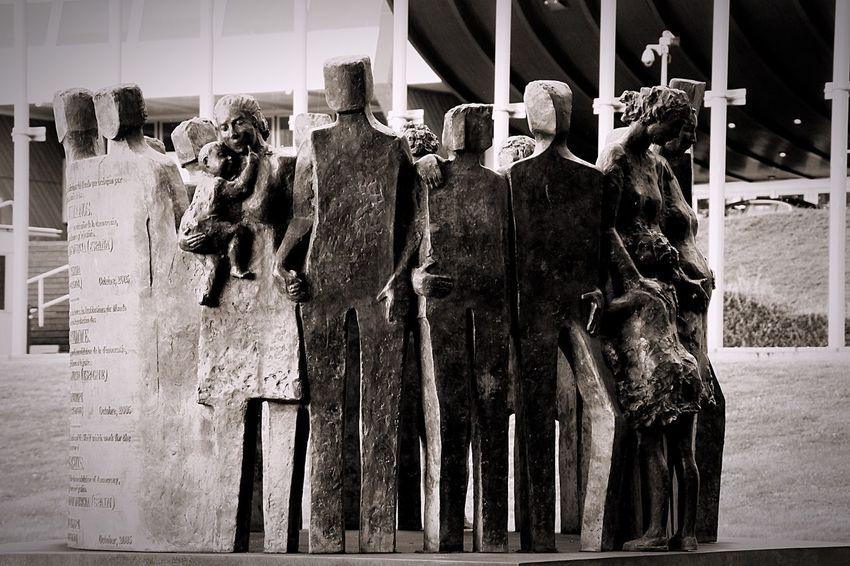 Visiting City Alsace Statue Human Representation Strasbourg