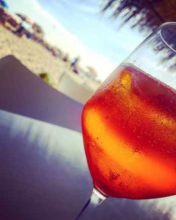 Alcohol Alcoholic Drink Aperol Spritz Beach Drink Drinking Glass Food And Drink Freshness Refreshment