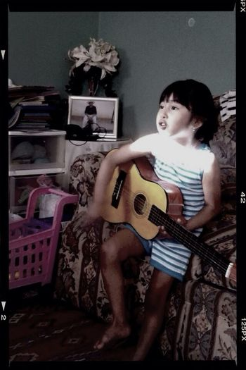 Baby playing the guitar ☺