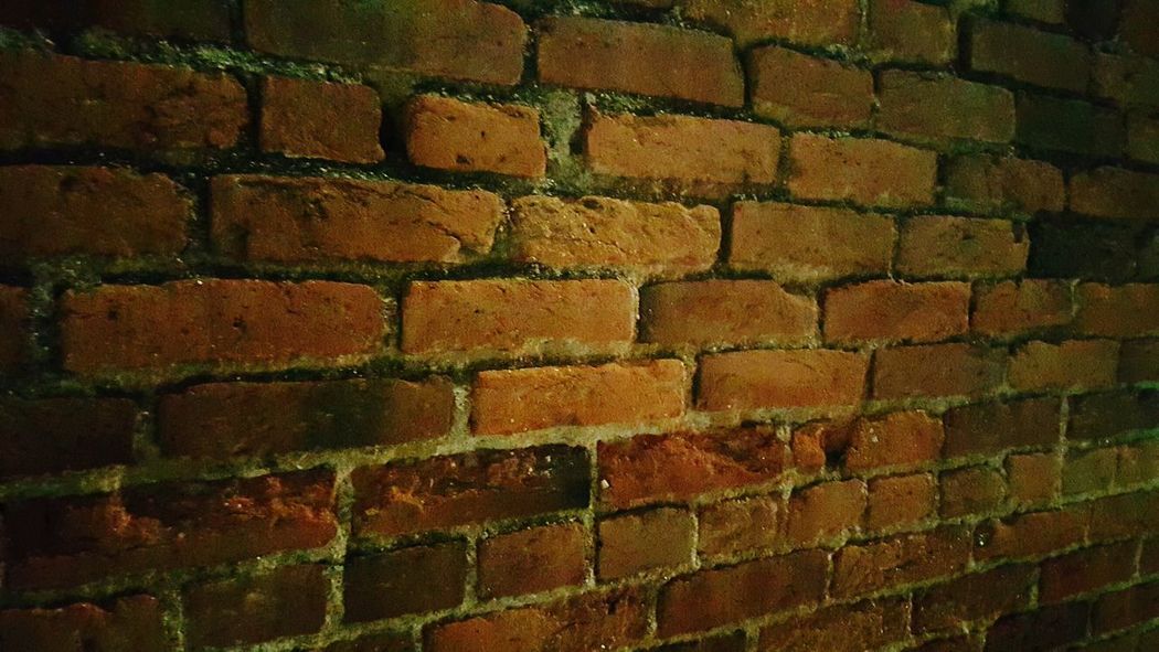 Brick Wall Historical Building Colorado Cripple Creek Old Buildings Old Bricks Night Photography No Flash Pattern, Texture, Shape And Form Shapes Architecture Creativity Mining Heritage