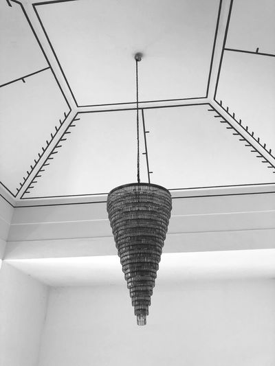 Hanging Low Angle View Lighting Equipment No People Day Architecture Pattern Decoration Sky Built Structure Design Metal Outdoors Shape Ceiling Wall - Building Feature Close-up Clear Sky Electric Lamp