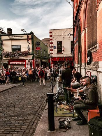 Life without music would be a mistake👊🏻 Large Group Of People Architecture Building Exterior Real People City City Life Sky Outdoors People Crowd Dublin