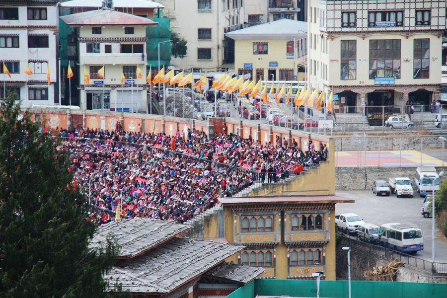 Architecture Celebration Scenics Bhutan Country Flags